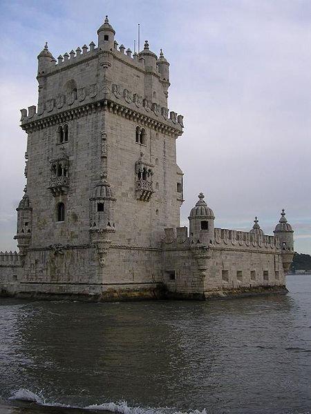 Белемская башня в устье реки Тежу. Столица Португалии, Лиссабон.