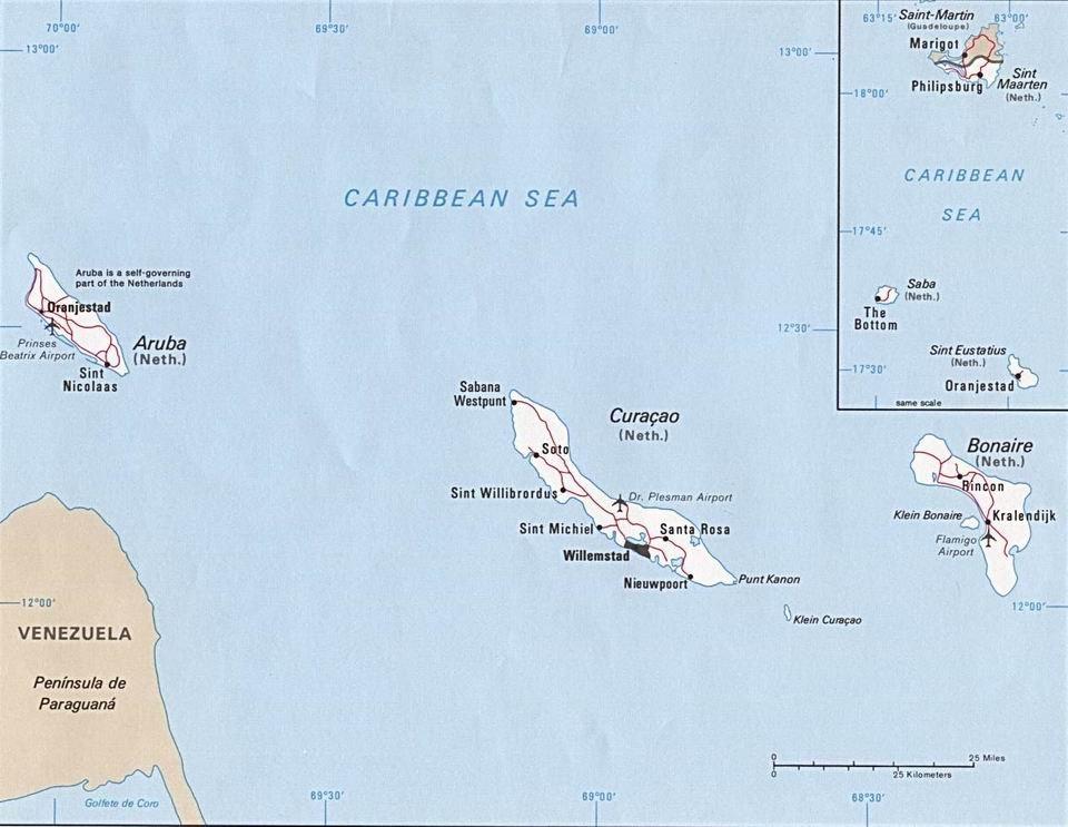 Нидерланские Антильские острова достопримечательности