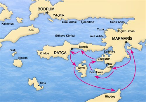 Карта Бодрума