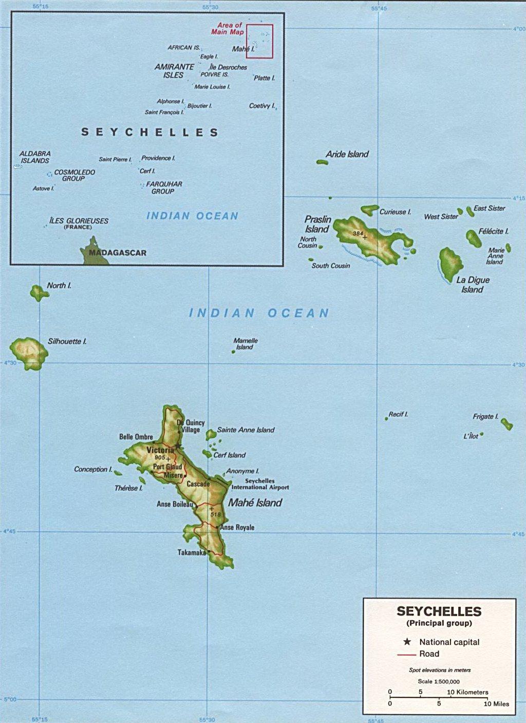 карта Сейшел