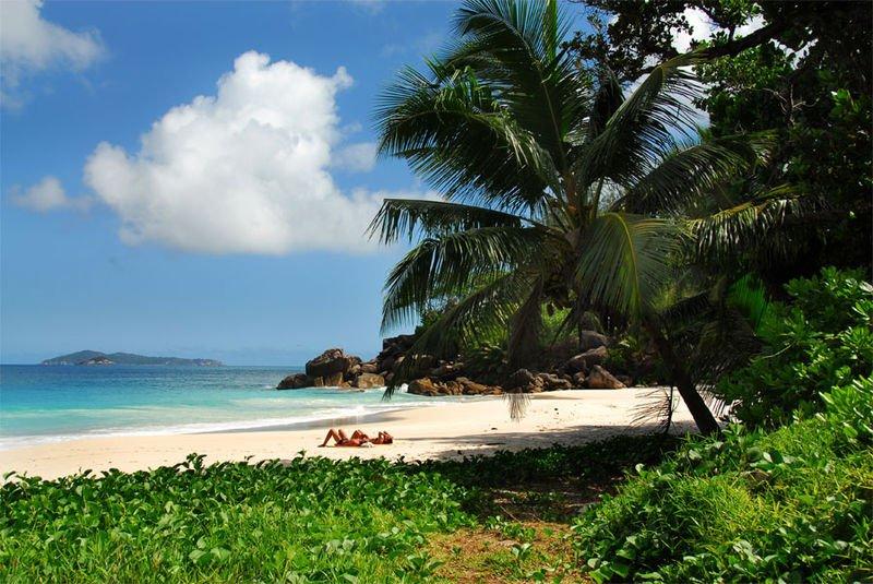 Пляж на острове Праслен, Сейшелы