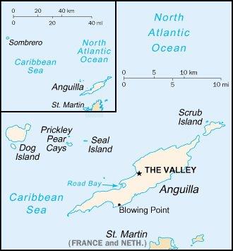 Карта Ангильи