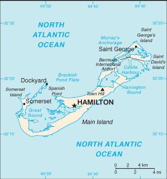 Карта Бермуд