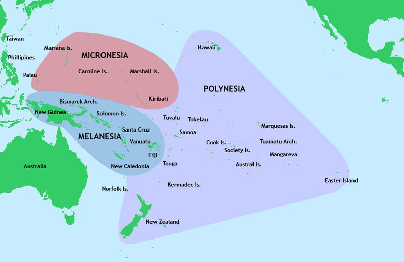 Карта Океании