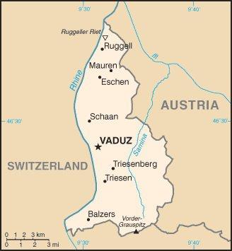Карта Лихтенштейна