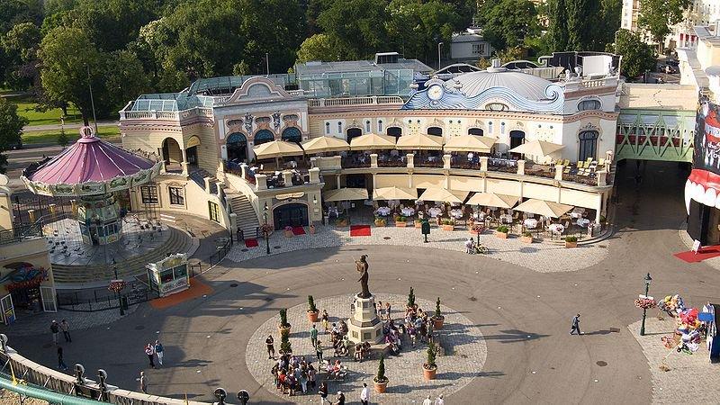 Парк развлечений в Пратере. Вена, Австрия