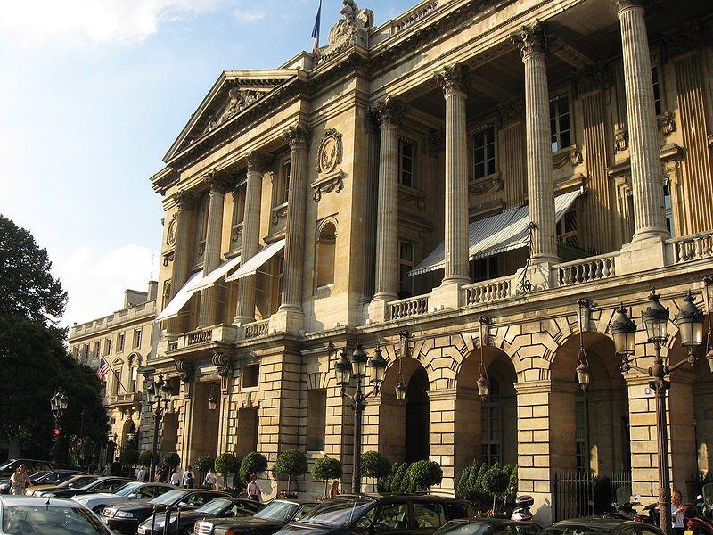 Отель Крийон, площадь Согласия. Париж, Франция