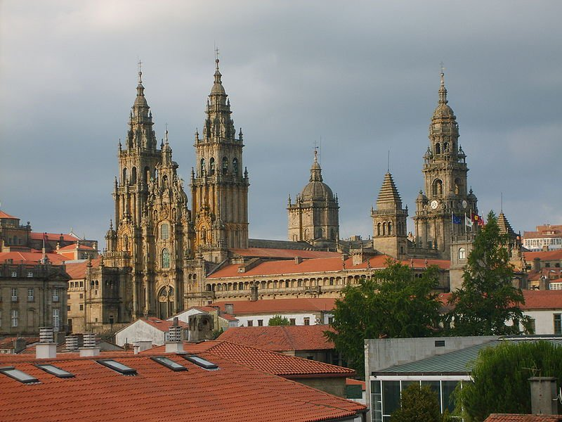 Сантьяго-де-Компостела, вид на собор Святого Иакова