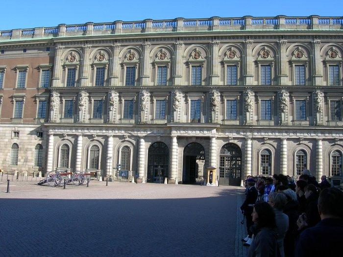 Королевский дворец в Стокгольме, западный фасад