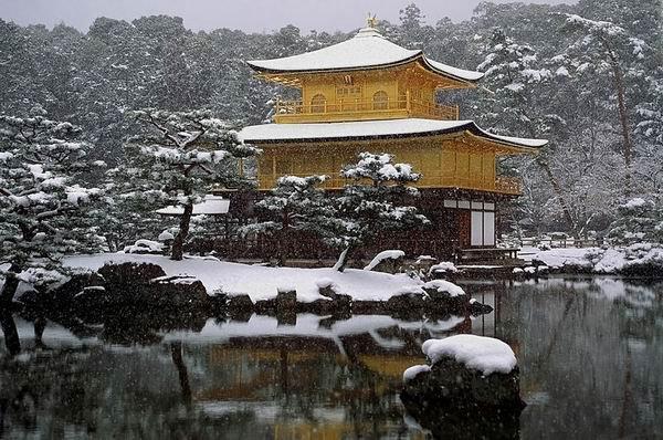 """Кинкаку-дзи, """"Золотой павильон"""", Киото"""
