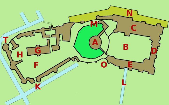 План Виндзорского замка