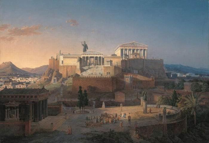 Парфенон в Акрополе, реконструкция архитектора Лео фон Кленце