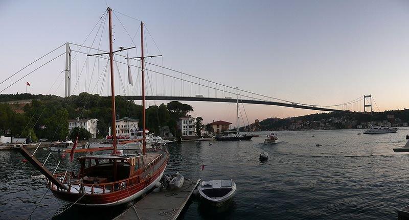 Висячий мост султана Мехмеда Фатиха или Второй подвесной мост через Босфор