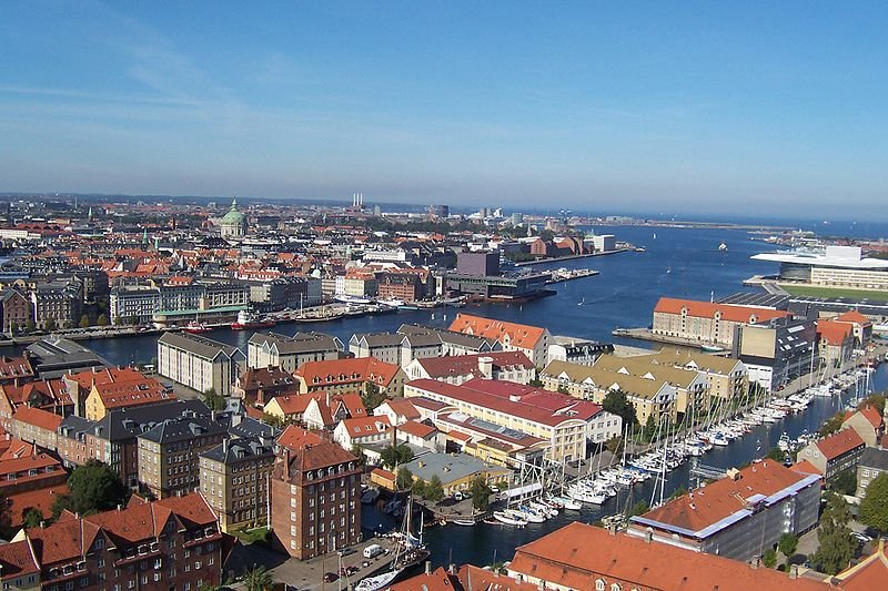 Копенгаген, вид сверху
