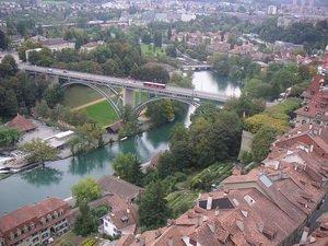 Река Аар в Берне, Швейцария