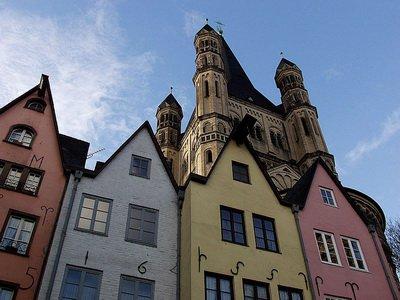 Кёльн, Фишмаркт, церковь Святого Мартина, фото Günter Ruch