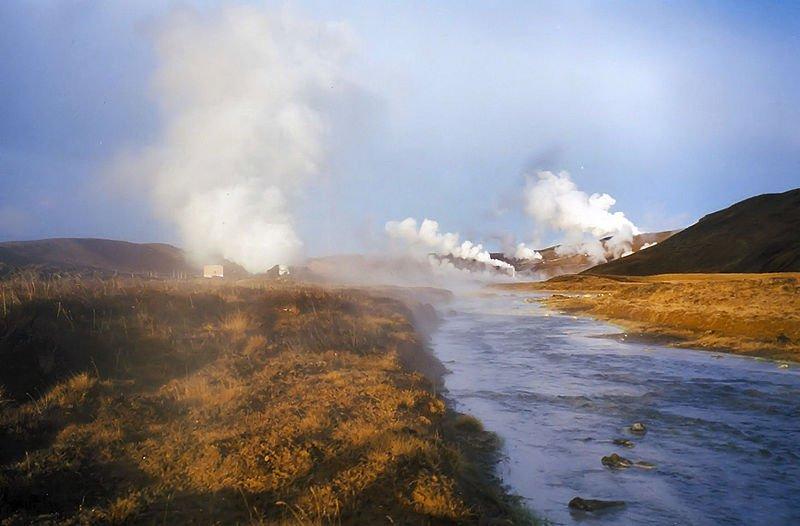 Фумаролы около вулкана Крафла