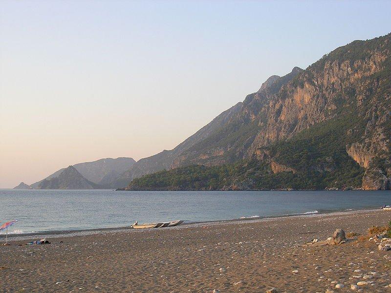 Пляж в Чырали, Кемер, Турция