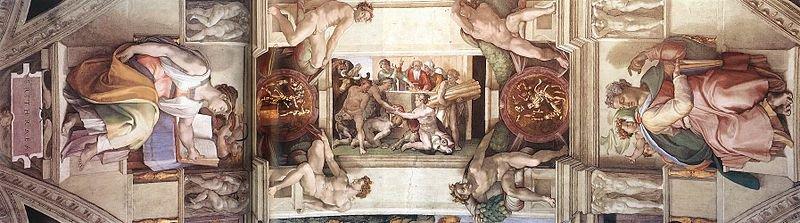 Потолок Сикстинской капеллы, Микеланджело