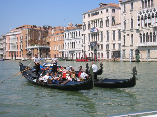 Гондолы на Гран-Канале, Венеция