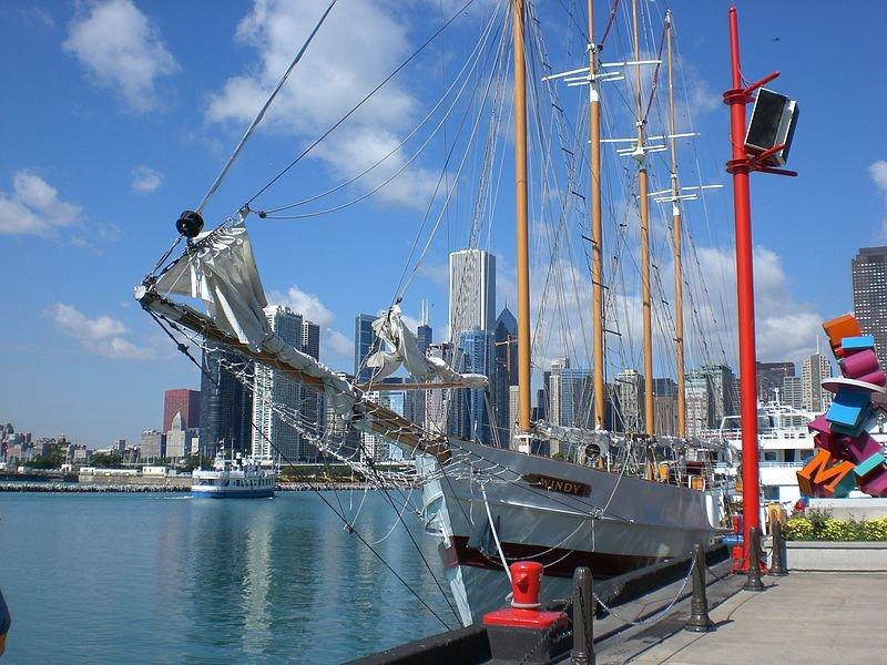 Вид на Чикаго с Морского пирса