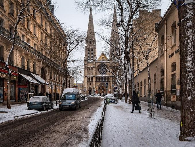 Зимний Париж, Франция