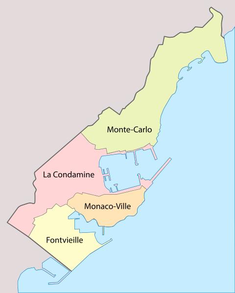 Карта Монако, Superbenjamin / Wikimedia Commons