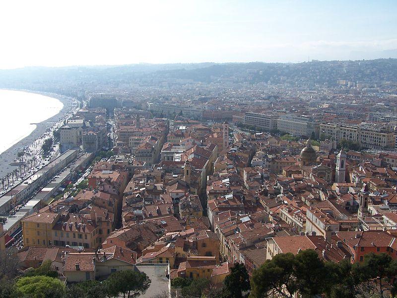 Ницца, вид на город