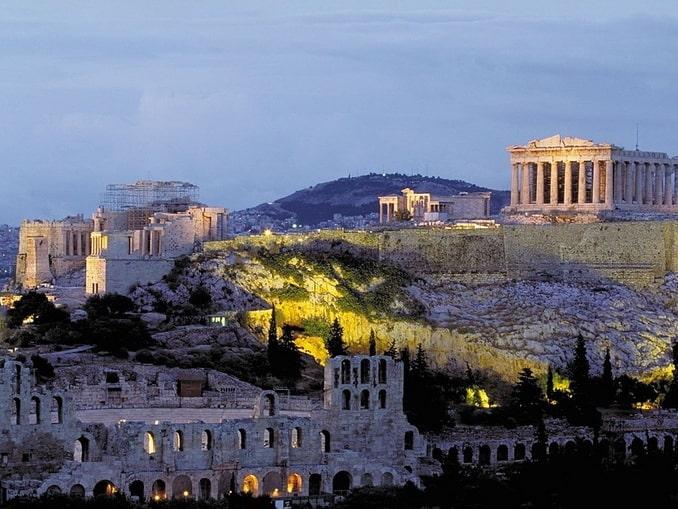 Акрополь и Парфенон в Афинах
