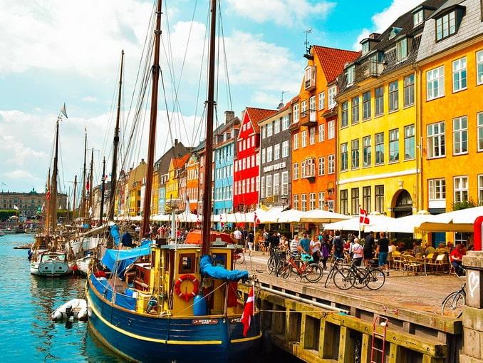 Гавань Нюхавн, Копенгаген, Дания