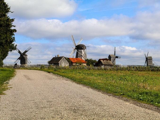 Мельницы на острове Сааремаа, Эстония