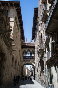 Улица в Готическом квартале Барселоны