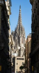 Собор Святой Евлалии в Готическом квартале Барселоны