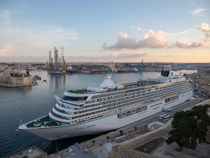 Круизный лайнер на Мальте, Валетта