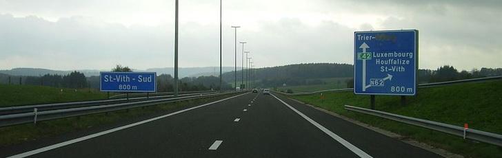 Шоссе в Бельгии, фото Rossano