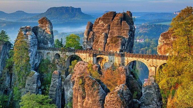 Мост Бастай, Саксония, Германия