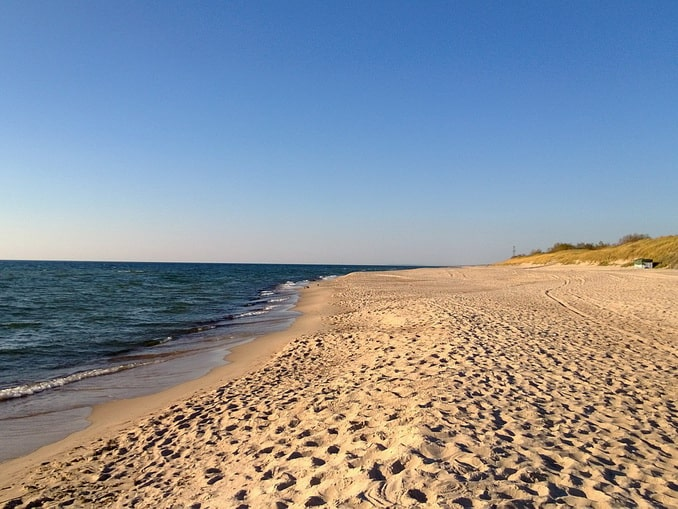 Пляж в Литве, Балтийское море