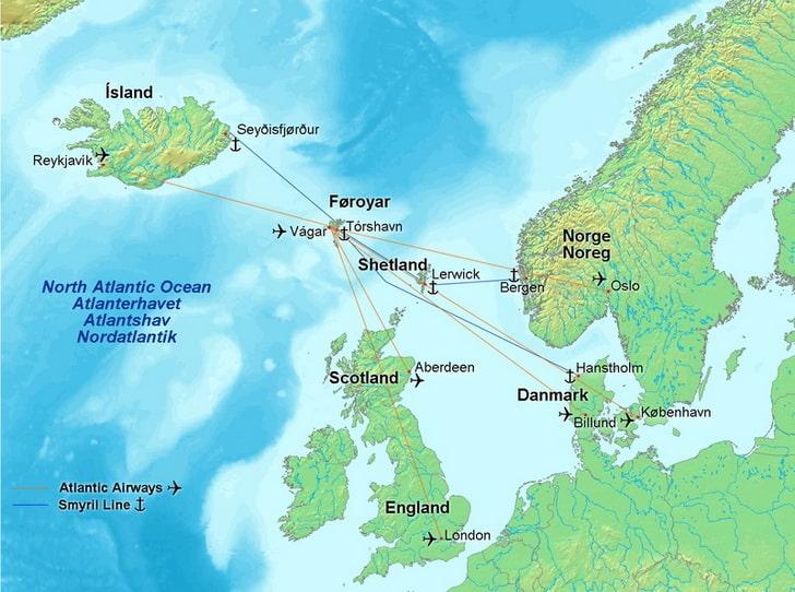 Фарерские острова, карта