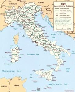 Карта регионов Италии