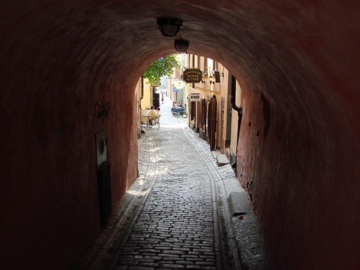 Стокгольм, улочка в Старом городе