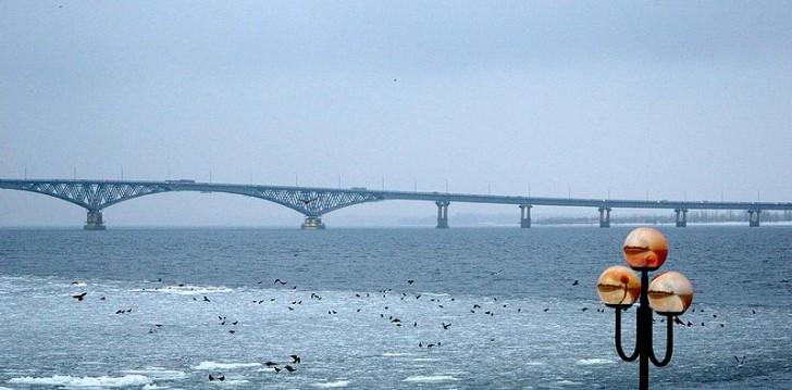 Саратовский мост через Волгу