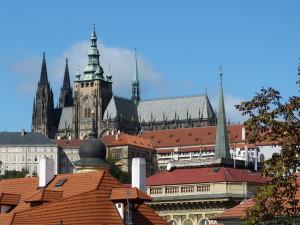 Вид на собор Святого Вита из Градчан