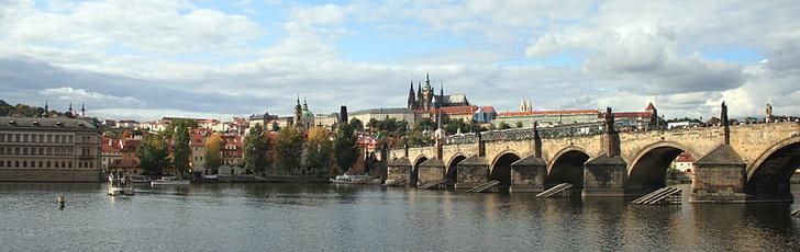 Карлов мост и Влтава, Прага