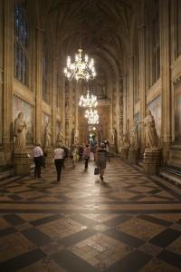Внутри Вестминстерского дворца