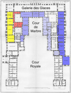 Карта-схема Версальского дворца