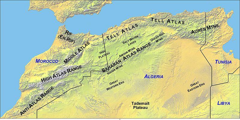 Карта Атласа