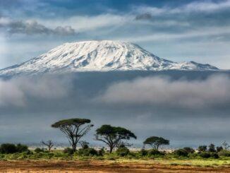 Вулкан Килиманджаро находится в Танзании, на границе с Кенией