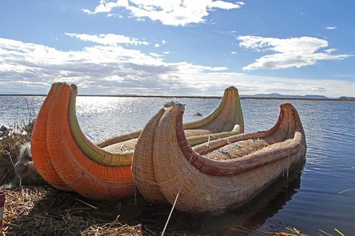 Озеро Титикака, лодки
