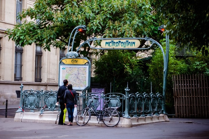 Станция парижского метро