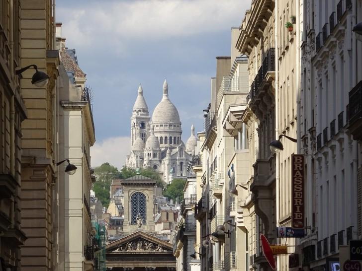Вид на Монмартр и Сакре-Кёр, Париж